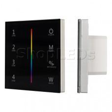 Панель Sens SMART-P30-RGBW Black (230V, 4 зоны, 2.4G)
