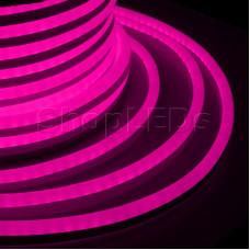 Гибкий Неон LED - розовый, бухта 50м