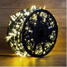 "Гирлянда ""LED Clip Light"" 12V шаг 150 мм ТЕПЛО-белый Flashing (белый) с трансформатором"