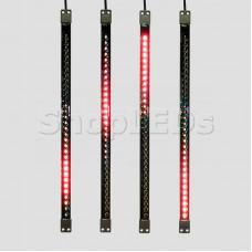 Сосулька светодиодная 50 см, 9,5V, двухсторонняя, 32х2 светодиодов, пластиковый корпус черного цвета, цвет светодиодов красный