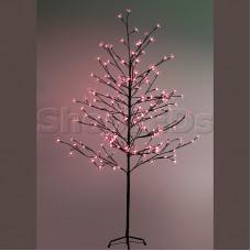 """Дерево комнатное """"Сакура"""", коричневый цвет ствола и веток, высота 1.5 метра, 120 светодиодов красного цвета, трансформатор IP44 NEON-NIGHT"""