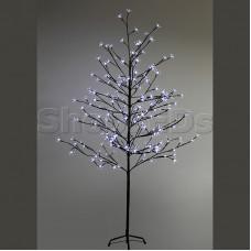 """Дерево комнатное """"Сакура"""", коричневый цвет ствола и веток, высота 1.5 метра, 120 светодиодов белого цвета, трансформатор IP44 NEON-NIGHT"""