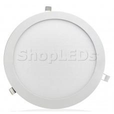 Светодиодная панель BRL-T-300-24W (белый круг, 24W, 300x13mm) (теплый белый 3000K)