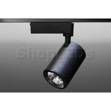 Трековый светодиодный светильник Track-64 (220V, черный корпус, 30W, однофазный) (теплый белый 3000K)