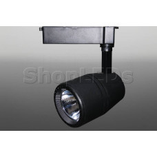 Трековый светодиодный светильник Track-91 (220V, черный корпус, 35W, однофазный) (белый 6000K)