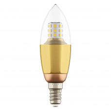 940522 Лампа LED 220V C35 E14 7W=70W 460LM 60G CL/GD 3000K 20000H (в комплекте)